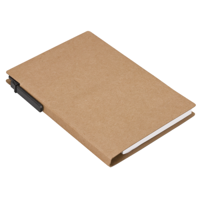 Recycled Notebook With Pen And Flags Natural