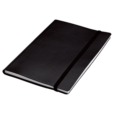 A5 Journal With Elastic Band Closure - 80 Pages Black