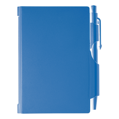 Notebook and Pen in Plastic Case Blue