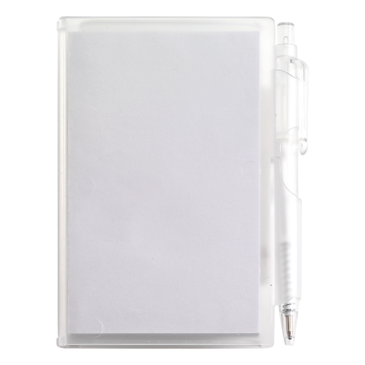 Notebook and Pen in Plastic Case White