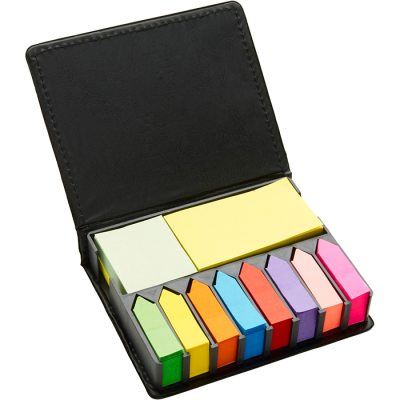Plastic Case with Memo Papers Black