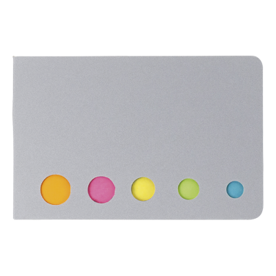 Holder with Sticky Notes Silver