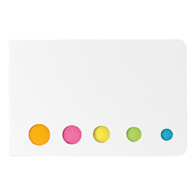Holder with Sticky Notes White