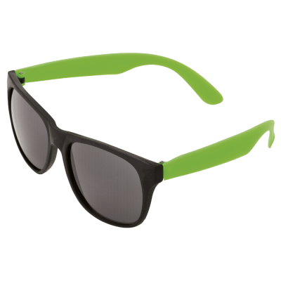 Sunglasses with Fluorescent Sides Fluoro Green