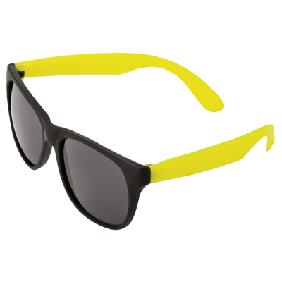 Sunglasses with Fluorescent Sides Fluoro Yellow