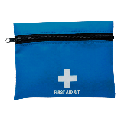 First Aid Kit In Zippered Pouch With Belt Clip Cobalt