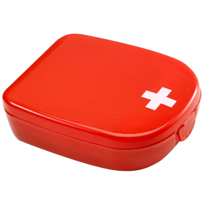 First Aid Kit in Plastic Case Red