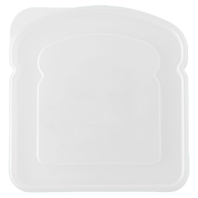 Sandwich Shaped Lunch Box White