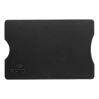 Plastic Card Holder with RFID Protection Black