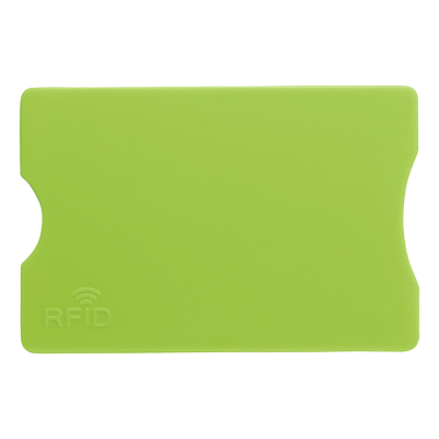 Plastic Card Holder with RFID Protection Light Green