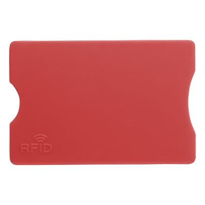 Plastic Card Holder with RFID Protection Red