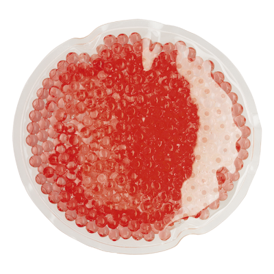 Round Shaped Hot and Cold Pack Red