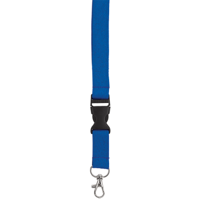 Woven Lanyard With Plastic Buckle Blue