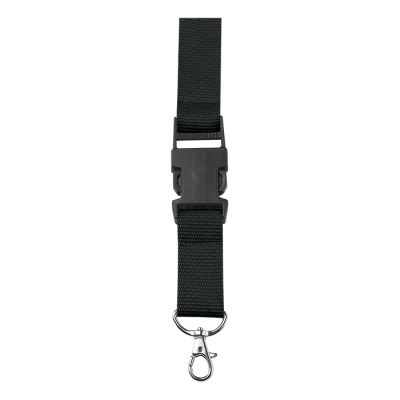 Lanyard with Safety Release Clip Black