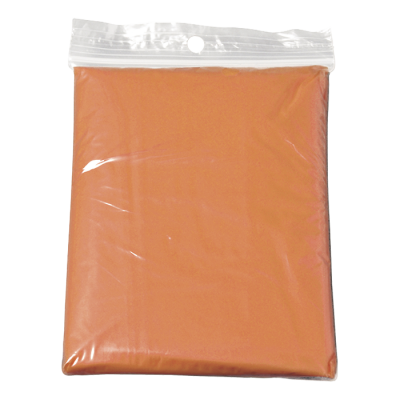 Translucent PVC Poncho Orange