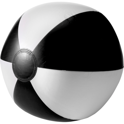Two Tone Inflatable Beach Ball Black/White