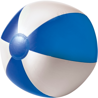 Two Tone Inflatable Beach Ball Blue