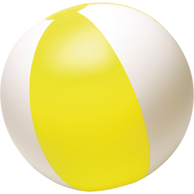 Two Tone Inflatable Beach Ball Yellow