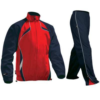 BRT Reflect Tracksuit Red/Navy Size Large