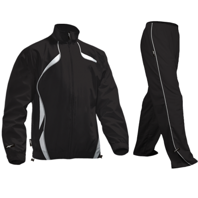 BRT Reflect Tracksuit Black/White Size 7 to 8