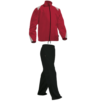 BRT Econo Tracksuit Red/White/Black Size 9 to 10