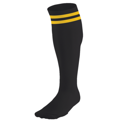 BRT Pace Sock Black/Gold Size 6-8