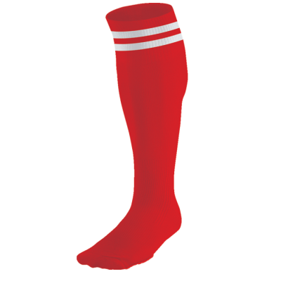 BRT Pace Sock Red/White Size 6-8