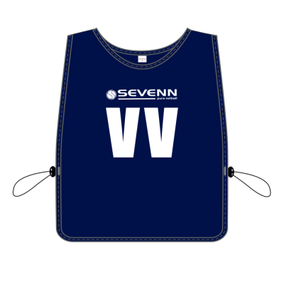 BRT Players Bib - Set Of 7 Navy Size Snr