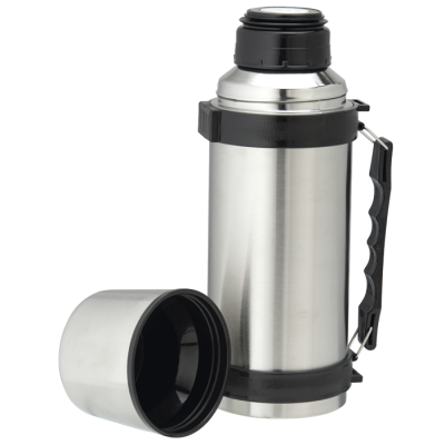 1L Stainless Steel Travel Flask With Carry Handle Silver