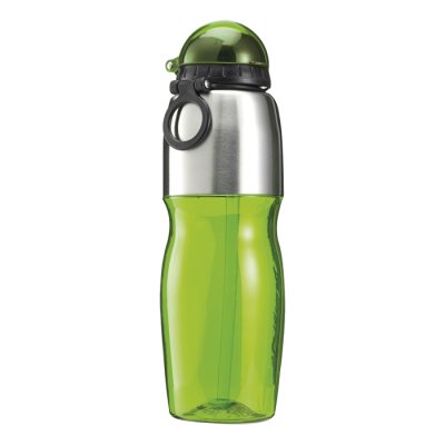800Ml Sports Water Bottle With Foldable Drinking Spout Green