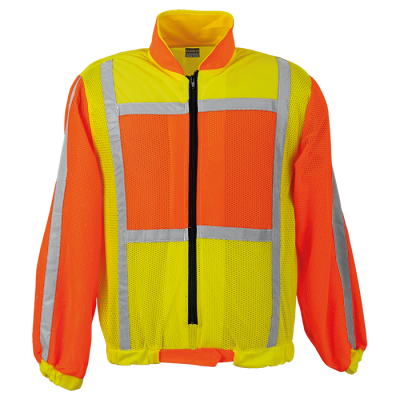 Contract Long Sleeve Reflective Vest Safety Yellow/Orange Size 3XL