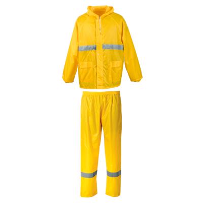 Contract Reflective Rain Suit Yellow/Reflective  Size 3XL