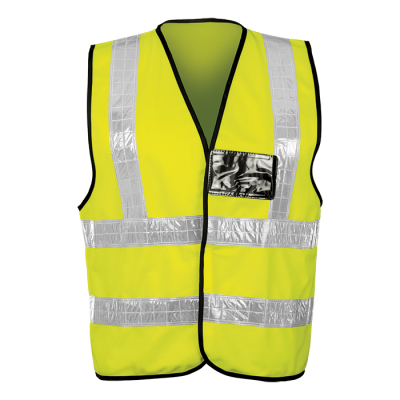 Contract PVC Waistcoat Size Large Safety Yellow