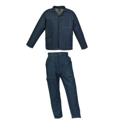 Barron Budget 100% Cotton Conti Suit Denim Blue Size 48