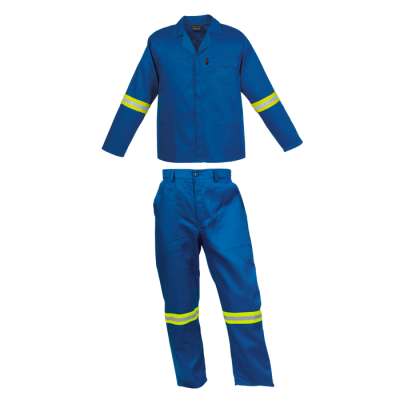 Barron Budget Poly Cotton Conti Suit With Reflective Royal Size 50