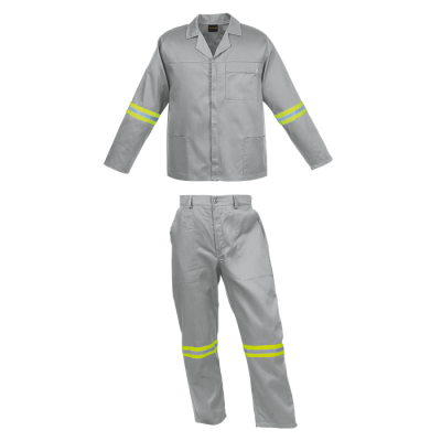 Barron Budget Poly Cotton Conti Suit With Reflective Grey Size 46