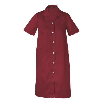 Ladies Poly Cotton House Coat Red Size 4XL