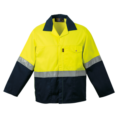 Premier Conti Jacket with Reflective Size 44 Safety Yellow/Navy