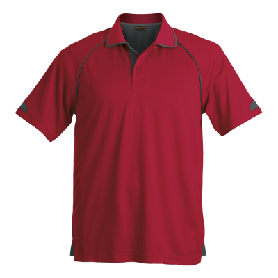 Mens Felton Golfer Red/Charcoal Size 4XL
