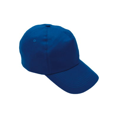 5 Panel Cotton With Hard Front Cap Royal Blue