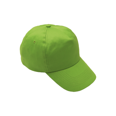 5 Panel Cotton With Hard Front Cap Lime