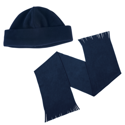 Glacier Scarf and Beanie Set Navy