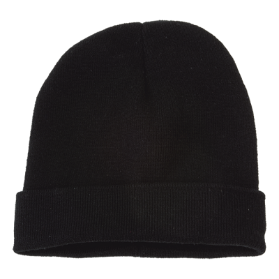 Ice Knitted Beanie Black