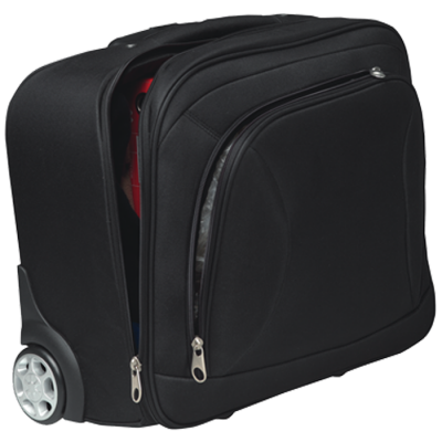 Lazio Laptop Trolley Bag Black