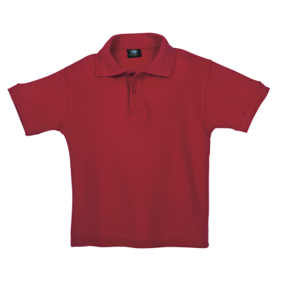 175G Kiddies Pique Knit Golfer Red Size 5 to 6