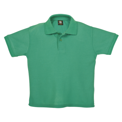 175G Kiddies Pique Knit Golfer Emerald Size 7 to 8