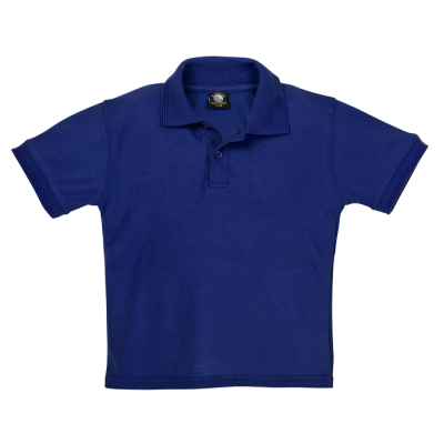 175g Kiddies Pique Knit Golfer Size 7 to 8 Blue