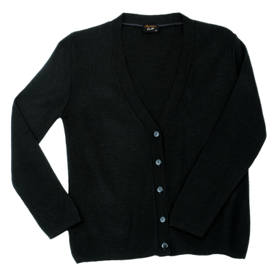 Ladies Basic Cardigan Black Size XL