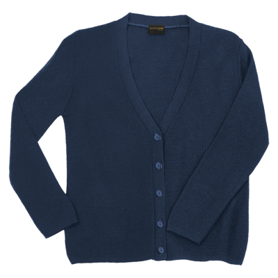 Ladies Basic Cardigan Navy Size 5XL