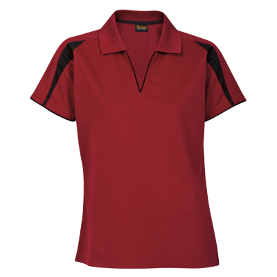 Ladies Edge Golfer Red/Black Size 4XL